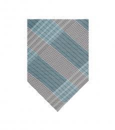 Calvin Klein Teal Thick Plaid Tie