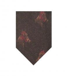 Brown Modish Wool Tie