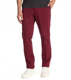 Michael Kors Merlot Solid Slim Fit Chinos