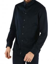 Emporio Armani Dark Blue Long Sleeve Shirt
