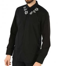 Black Floral Printed Shirt