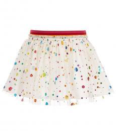 Girls Ivory Tulle Skirt
