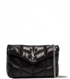 Saint Laurent Black Puffy Small Shoulder Bag