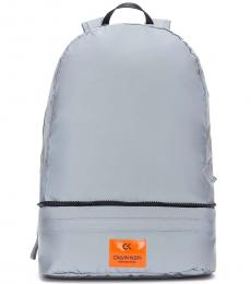 Calvin Klein Reflective Silver Packable Large Backpack