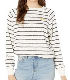 Billabong White Crew Neck Pullover