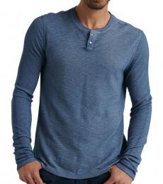 Lucky Brand Dark Blue Thermal Long Sleeve Henley