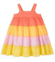 Juicy Couture Little Girls Multicolor Tiered Trapeze Dress