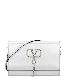 Silver V Case Medium Crossbody