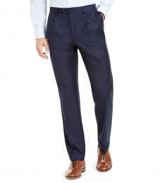 Ralph Lauren Navy Blue Classic-Fit Pleated Pants