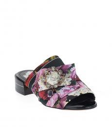 Floral Print Jewel Flats