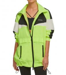 DKNY Green Color Block Windbreaker