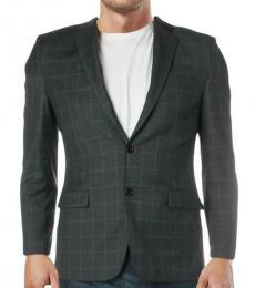 Ralph Lauren Dark Grey Slim Fit Two-Button Coat