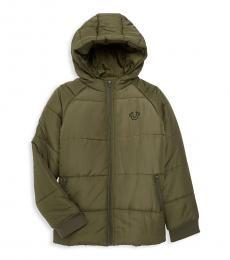 True Religion Boys Olive Puffer Jacket