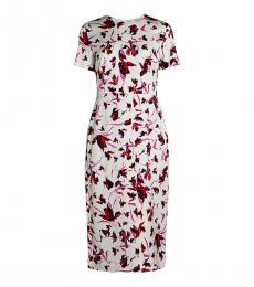 Diane Von Furstenberg White Inya Wild Floral Dress