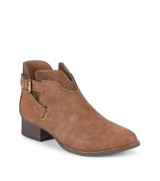 Vince Camuto Girls Brown Calliope Booties