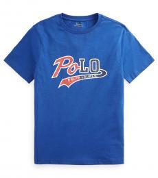 Ralph Lauren Boys Sistine Blue Logo T-Shirt