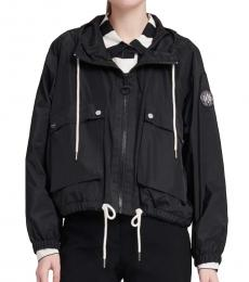 DKNY Black Cropped Anorak