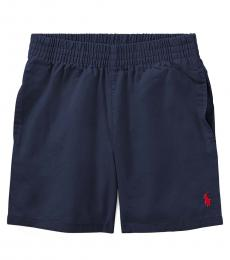Ralph Lauren Little Boys Aviator Navy Chino Pull-On Shorts