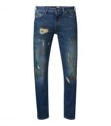Love Moschino Dark Blue Ribbed Jeans
