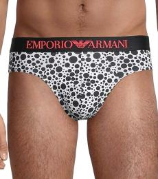 Emporio Armani White 2-Pack Printed Briefs