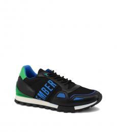 Bikkembergs Black Blue Logo Sneakers