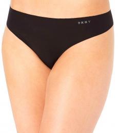 DKNY Black Logo Thong Underwear