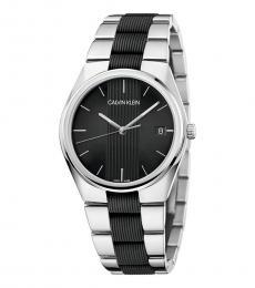 Calvin Klein Silver Contra Quartz Watch