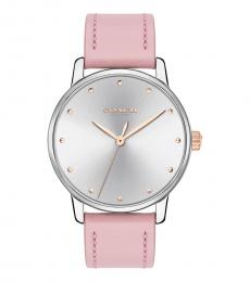 Coach Pink Silver Dial Watch