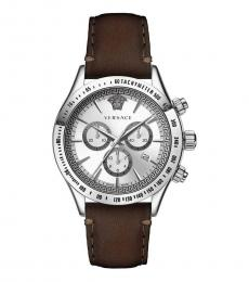 Versace Brown Classic Silver Dial Watch