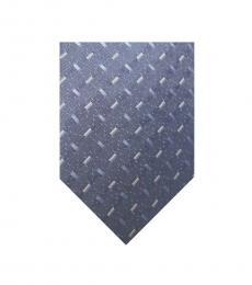 DKNY Blue Gray Check Tie