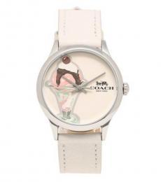 Coach Ruby Vanilla Stylish Leather Watch