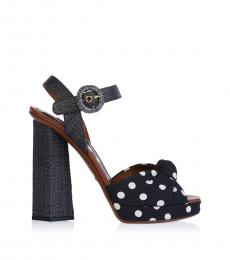 Dolce & Gabbana Black Polka Dot Heels