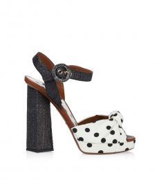 Dolce & Gabbana White Polka Dot Heels