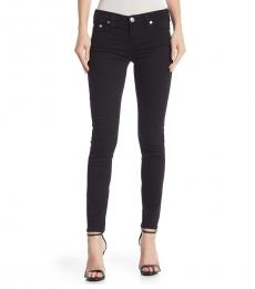 True Religion Black Halle Mid Rise Skinny Jeans