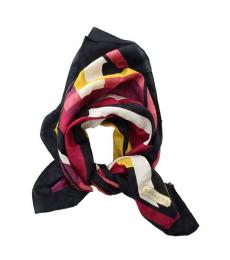 Coach Multicolor Colorblock Square Scarf