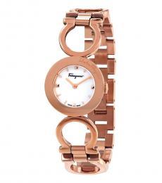 Salvatore Ferragamo Rose Gold White Dial Watch