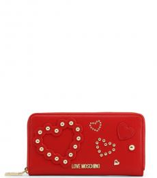 Love Moschino Red Embellished Wallet