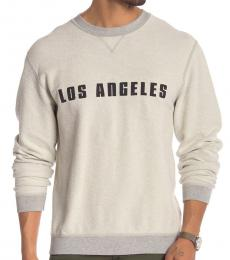 7 For All Mankind Grey Reversible Crew Neck Sweatshirt