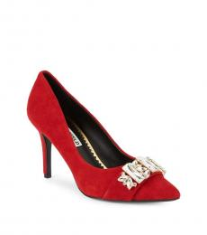 Red Rada Embellished Heels