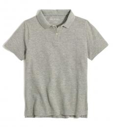 J.Crew Little Boys Heather Grey Pique Polo