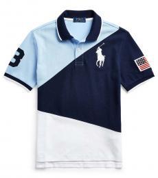 Ralph Lauren Boys Newport Navy Big Pony Polo