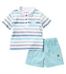 Calvin Klein 2 Piece Polo/Shorts Set (Baby Boys)