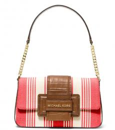 Michael Kors Coral Sage Flap Medium Shoulder Bag