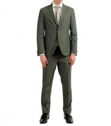 Green Two Button Suit
