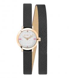 Furla Black Vittoria Radiant Watch