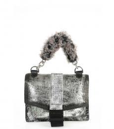 Silver Metallic Mini Shoulder Bag