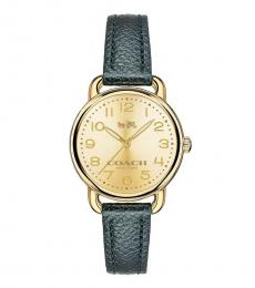 Coach Teal Delancey Time Piece