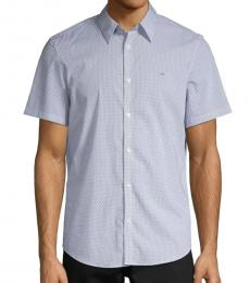 Light Blue Printed Short-Sleeve Shirt