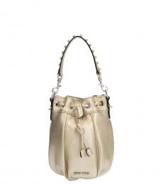 Miu Miu Gold Swarovski Mini Bucket Bag