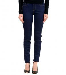 Versace Jeans Blue Embellished Slim Fit Jeans